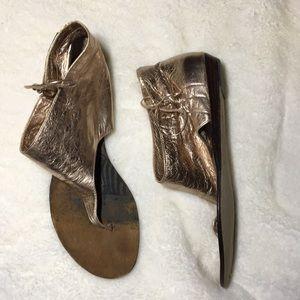 Dolce Vita gold flat sandals